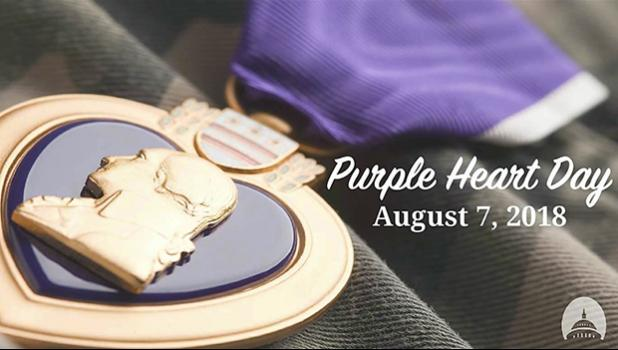 Graphic of Purple Heart medal