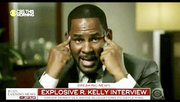 In this frame from video provided by CBS, R. Kelly talks during an interview