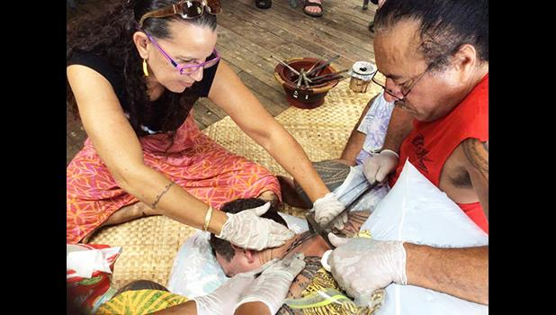 Master Tufuga Su'a Wilson Fitiao, seen in this Samoa News file photo with his wife, artist Reggie Meredith Fitiao