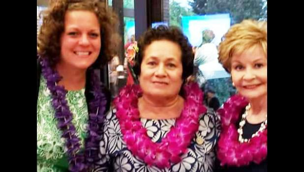Congresswoman Amata (center) with daughter Kirsten (left) and Congresswoman Bordallo (right)