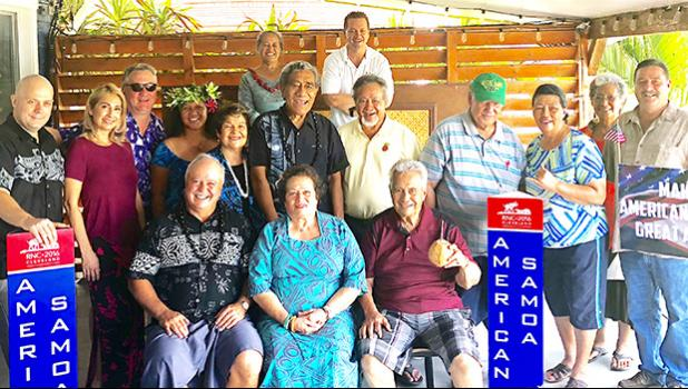 Members of the American Samoa Republican Party pose for a photo
