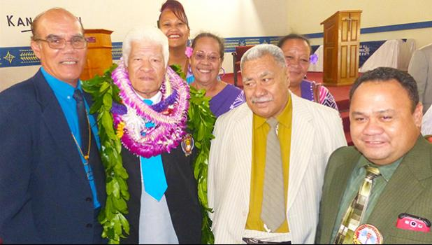 Rev. Faletoi Uso (second from left)