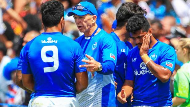 The Samoa sevens team are onto their third manager this season. [Photo: PHOTOSPORT via RNZI]