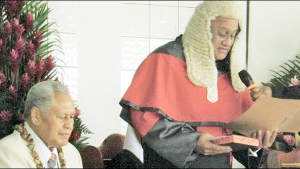 Chief Justice Satiu Simativa Perese and Head of State