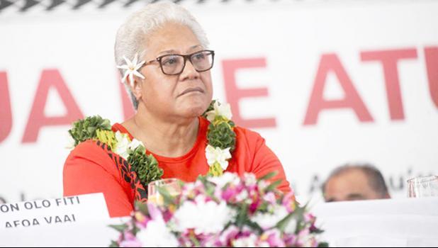 FAST leader Fiame Naomi Mata'afa