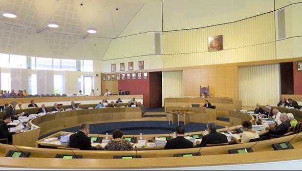 Samoa's parliament chamber