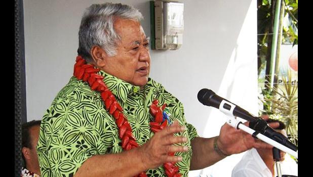 Samoa's prime minister, Tuilaepa Sailele Malielegaoi.