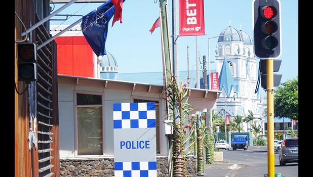 A view of Apia taken from outside police headquarters