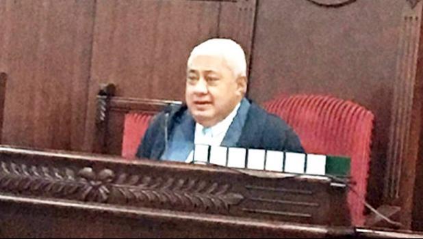 Retiring Samoa CJ Patu Falefatu Sapolu