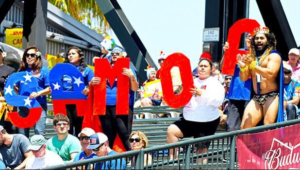 Manu Samoa 7s fans in San Francisco, CA