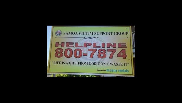 Samoa Victim's Support Helpline poster