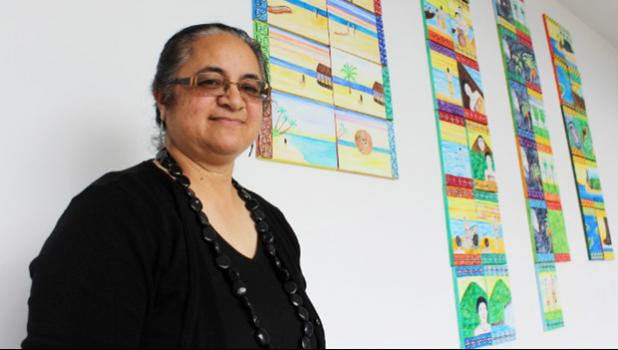 Helen Tau'au Filisi is holding an art exhibition and releasing a new children's book as part of Samoan language week. [photo:  EMILY FORD/FAIRFAX NZ]