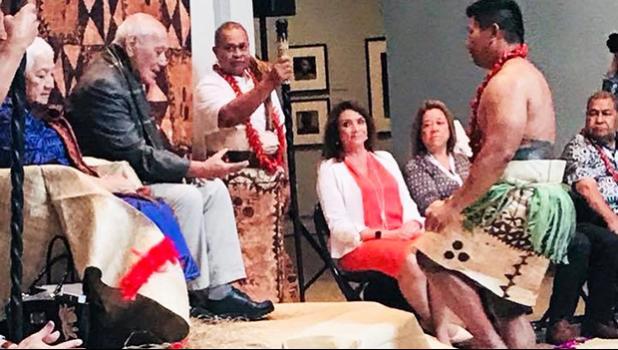 His Highness Tui Atua Tupua Tamasese Taʻisi Tufuga Tupuola Efi and Her Highness Masiofo Filifilia Tamasese