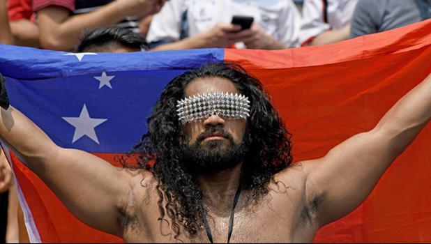 Samoa fan at Hong Kong Sevens