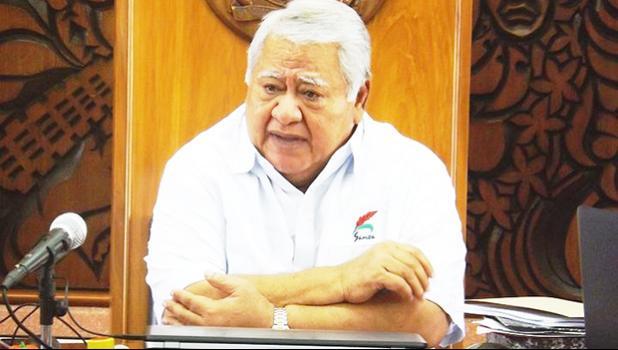 Prime Minister of Samoa, Tuila'epa Sa'ilele Malielegaoi.