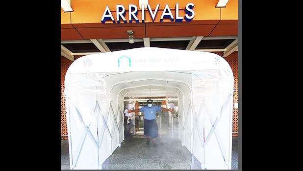 New sanitary gate at the Faleolo airport