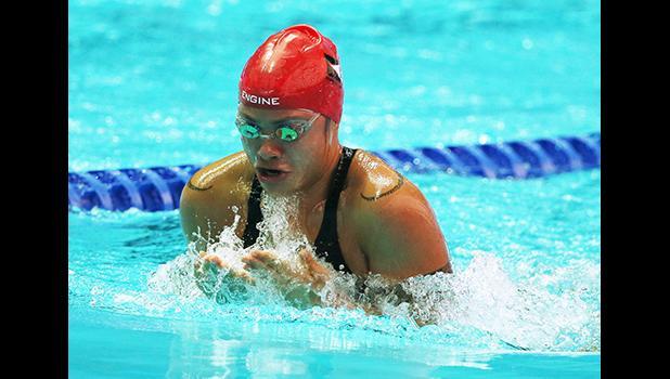 Tilali Scanlan in the pool.
