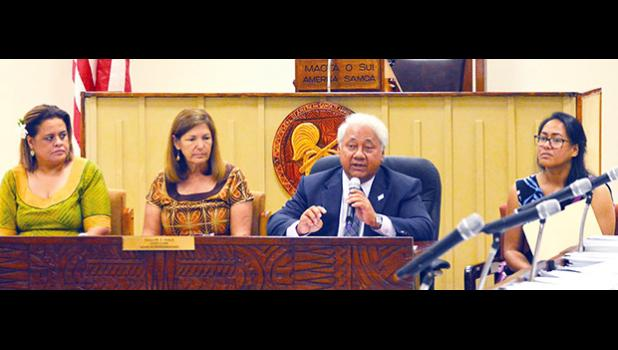 C M Y K Page 6 samoa news, Wednesday, October 18, 2017 Members of the ASG scholarship board appeared before the House Education & Scholarship Committee yesterday morning to discuss the issue of delayed checks for students attending school off island. [photo: AF]