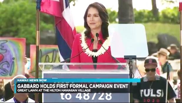 Congresswoman Tulsi Gabbard officially kicking off her 2020 presidential campaign