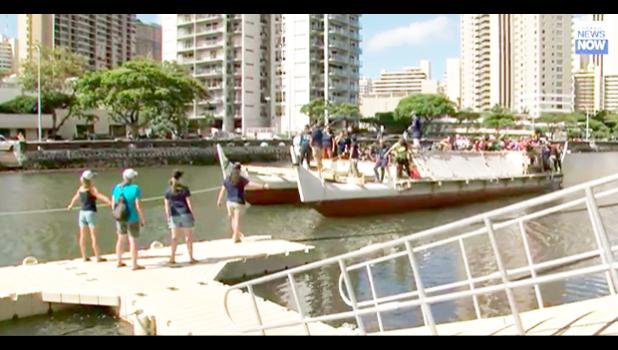 Hokulea at the Alawai Marina