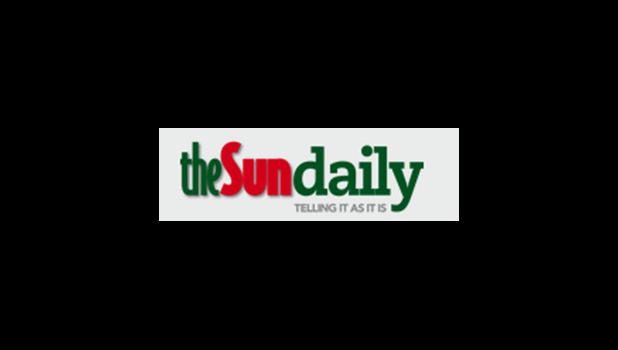 The Sun Daily newspaper masthead