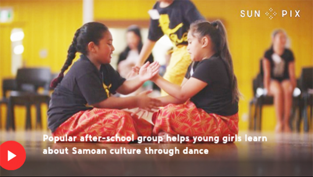 Screenshot from 1 News Now video of girls at Elei