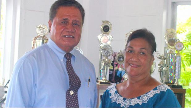 Sen. Nuanuaolefeagaiga Saoluaga T. Nua with his wife, Usuimalo T. Ah Soon Nua
