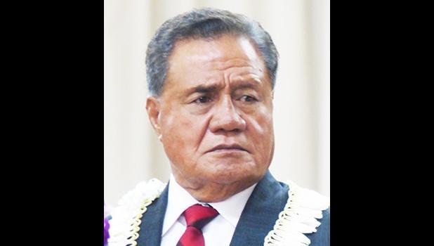 President Pro Tem Nuanuaolefeagaiga Saoluaga Nua