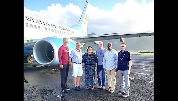 Congresswoman Amata with (l-r) Senators Thune, Burr, Moran, Scott, and Lankford