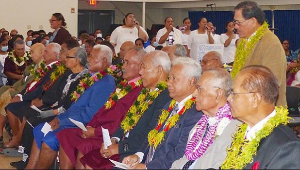 Senators seated at Joint Fono Session