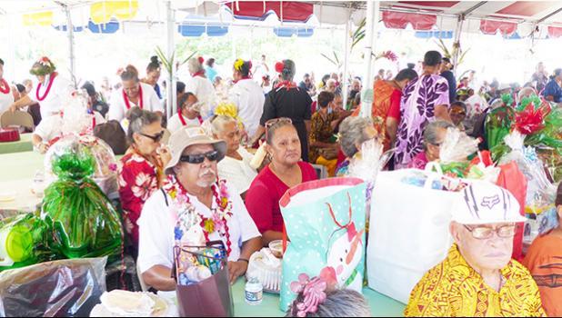 Senior Citizens enjoying the 2020 Christmas party
