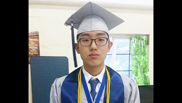 Salutatorian Seon Woong Ham [photo: Blue Chen-Fruean]