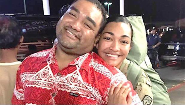 SGT Sinaalamaimaleula Tauti with her father David