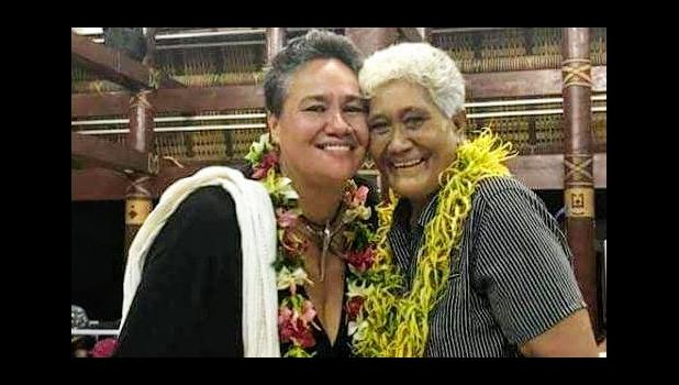 Pacific author Sia Figiel (L) with former teacher, Sister Vitolia Mo'a