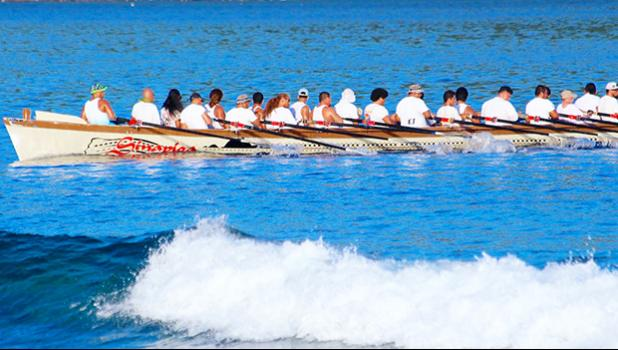 Sinapioa in the 2017 race where it was rowed by the Fagaitua H.S. crew