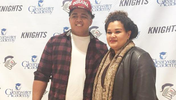 Sio Nofoagatoto'a and his mom, Senetima