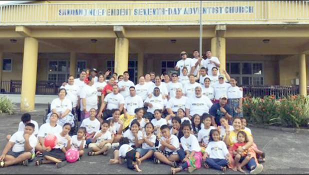 Participants at the camp posing for a group photo