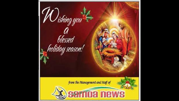 Christmas greeting from Samoa News