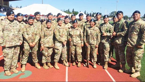 A look at some of American Samoa's brave men and women who are proudly serving in the United States Army and stationed at Fort Lewis, WA. The group was very much a part of last week's cultural celebrations during the week-long festivities for Flag Day in Washington state. Samoa News thanks you for your service! [photo: courtesy]