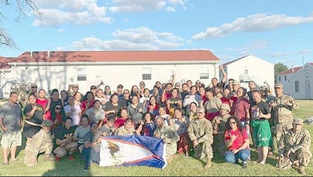 American Samoa soldiers at Ft. McCoy