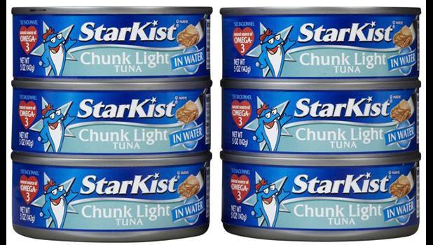 Cans of StarKist tuna