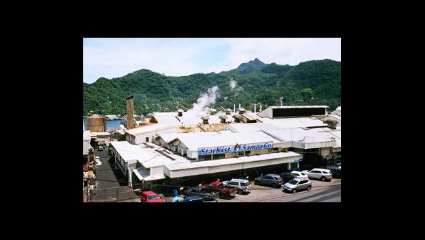 View of StarKist plant in American Samoa