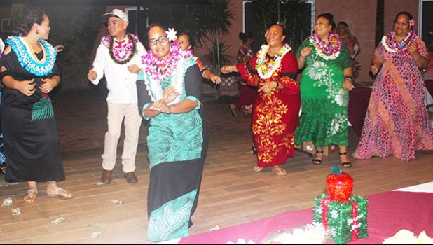 Pictured during the siva Samoa are some of the fourteen ASDOE Teachers of the Year during last Friday night's 2018-19 Exemplary Teachers of the Year celebration