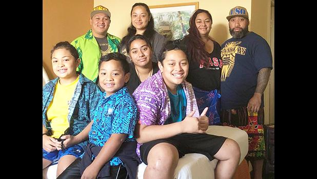 Members of the Keil and Mano families at a Honolulu hotel