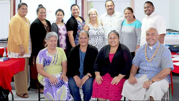 Local substance abuse counselors with Cynthia Moreno-Tuohy, of The Association of Addiction Professionals