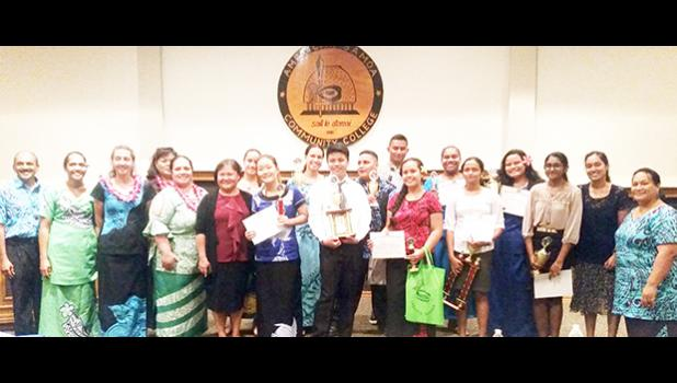 2017 American Samoa High School Science Symposium presenters, teachers and judges with OCI staff. [Courtesy photo]
