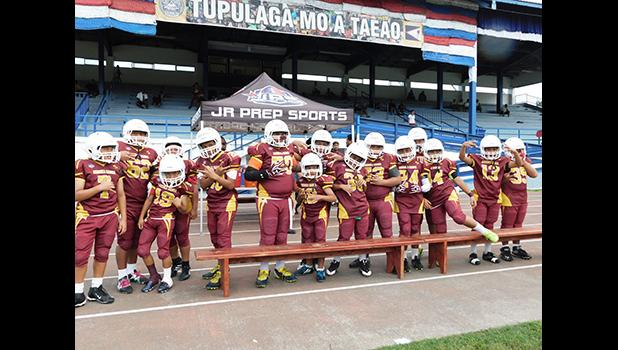 Tafuna Warriors Division 2 (5th and 6th graders) won against the JPS Vikings 6-0 in last Wednesday's playoff, and are ready for the Championship game this Saturday at the Veterans Stadium at 8a.m.  [photo:EM]