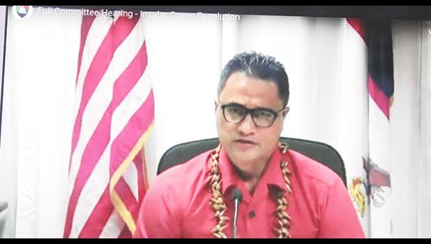 Screen shot of Lt. Gov. Talauega Eleasalo V. Ale