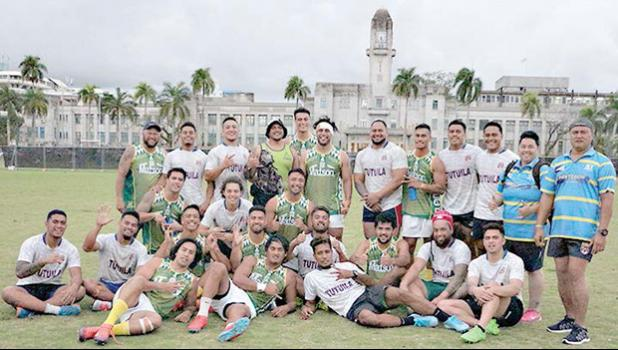 Talavalu with Cook Islands team