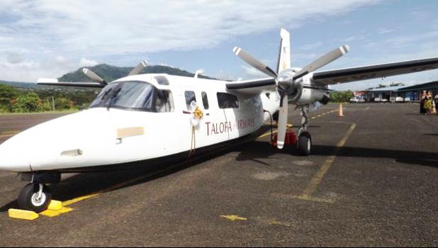 A Talofa Airways plane on the tarmac at Pago Pago Int'l Airport